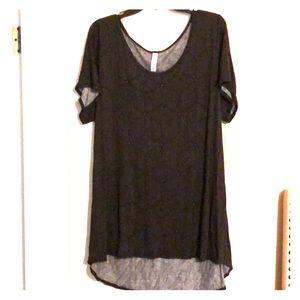 Lularoe black shirt with design